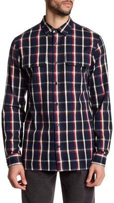 Vince Military Regular Fit Flannel Shirt