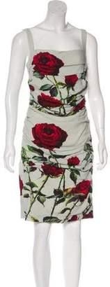 Dolce & Gabbana Ruched Rose Print Dress rose Ruched Rose Print Dress