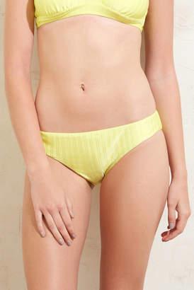 Bikini Lab Luster Rib Citron Hipster Bikini Bottom Lime L