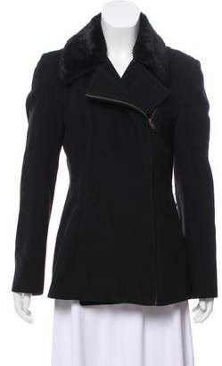 KORS Wool-Blend Zip-Up Coat