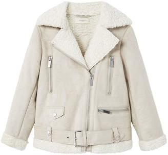 MANGO Girls Faux Shearling Jacket