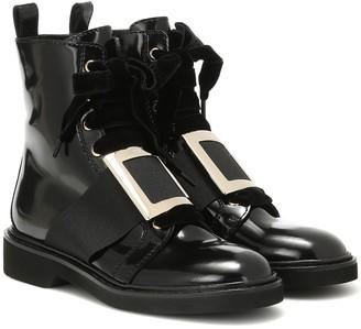 Roger Vivier Viv' Rangers leather ankle boots