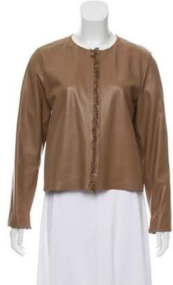 Schumacher Dorothee Leather Fringe-Trimmed Jacket