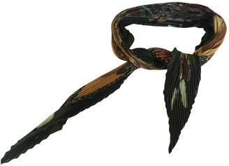 Hermes Plisse Khaki Silk Silk handkerchief