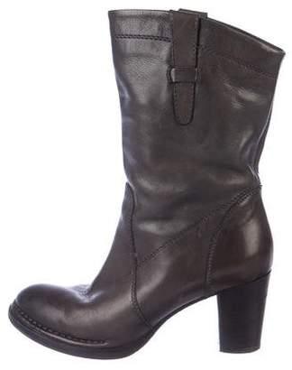 Alberto Fermani Leather Mid-Calf Boots