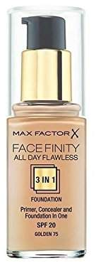Max Factor All Day Flawless 3 in 1 Foundation Golden 75 (Pack of 6)