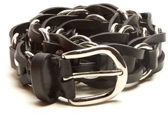 Isabel Marant Links Leather Belt - Womens - Black