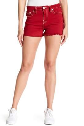 True Religion Frayed Denim Shorts