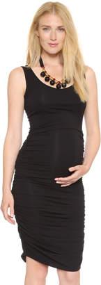 Ingrid & Isabel Shirred Maternity Tank Dress $88 thestylecure.com