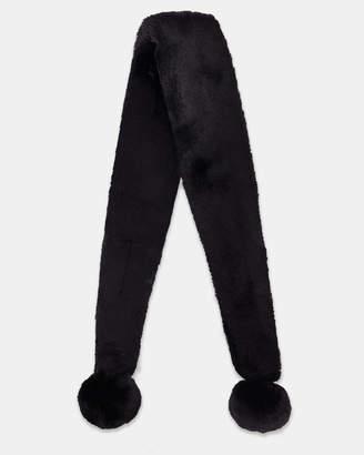 Ted Baker NEOLA Pom-pom long faux fur scarf