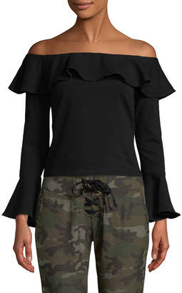 Supply & Demand SUPPLY + DEMAND Off-The-Shoulder Ruffle Top