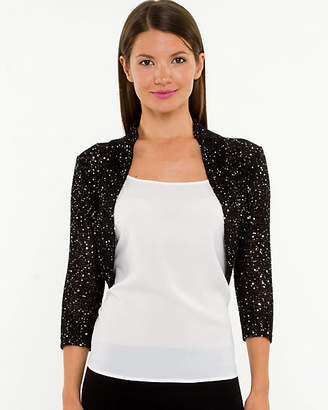 Le Château Sequin Embellished Open-front Shrug