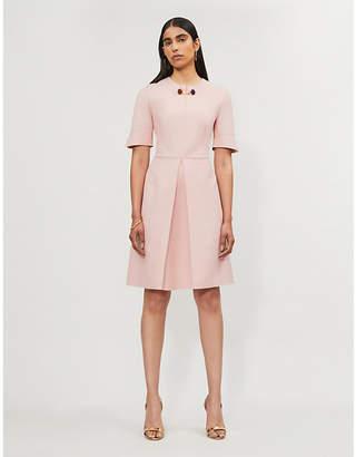 Stella McCartney Albane Pleated Wool-Blend Mini Dress