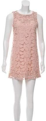 Alice + Olivia Embellished Lace Dress