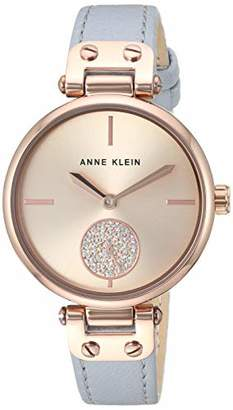65253e21f Anne Klein Women's AK/3380RGLG Swarovski Crystal Accented Rose Gold-Tone  and Light Grey