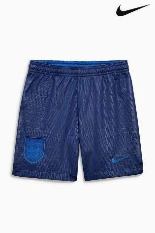Boys Nike Breathe England Kids Stadium Football Shorts - Blue