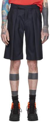 Matthew Adams Dolan Navy Pleat Front Shorts