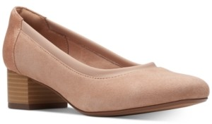 Clarks Collection Women's Chartli Fame Block-Heel Pumps Women's Shoes