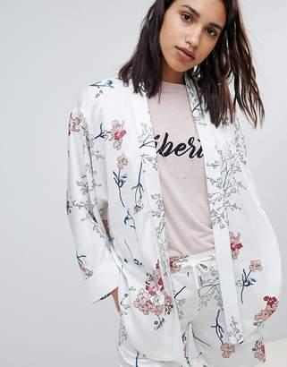 Sofie Schnoor cherry blossom print short kimono