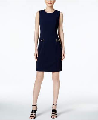 Calvin Klein Zip Pocket Scuba Sheath Dress