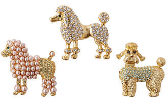Joanna Buchanan Asst. of 3 Poodle Clip Ornaments - Gold