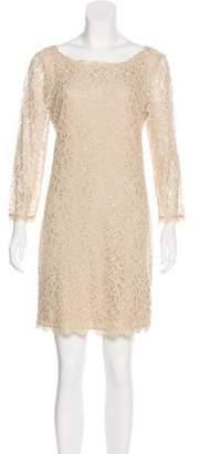 Diane von Furstenberg Floral Lace Mini Dress w/ Tags