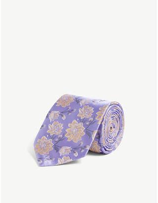 Duchamp LONDON Amber floral jacquard silk tie