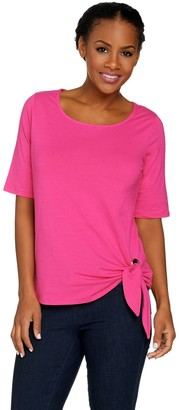Belle By Kim Gravel Belle by Kim Gravel TripleLuxe Grommet Side Tie T-shirt