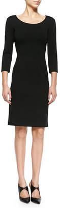 Armani Collezioni Double-Face Jersey Sheath Dress