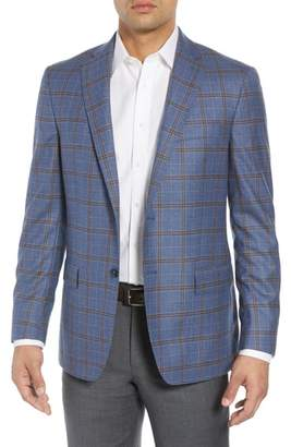 Hart Schaffner Marx Classic Fit Plaid Wool & Silk Sport Coat