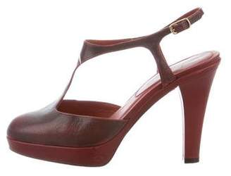 Marc Jacobs Leather T-Strap Pumps