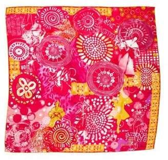 Christian Dior Silk Printed Scarf Magenta Silk Printed Scarf