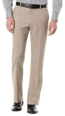 Perry Ellis Big and Tall Textured Flat Front Suit Pants
