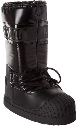 Moncler Venus Leather-Trim Moon Boot