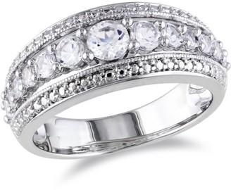 Miabella 1-1/8 Carat T.G.W. Created White Sapphire Sterling Silver Wedding Ring