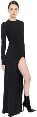 Haider Ackermann Stretch Crepe Dress With Cutout