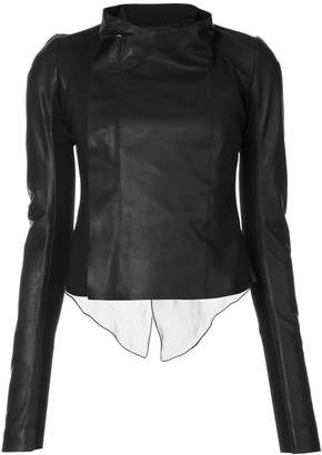 Rick Owens low neck biker jacket