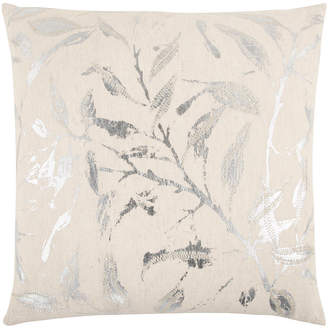 """Rizzy Home 20"""" x 20"""" Floral Poly Filled Pillow"""
