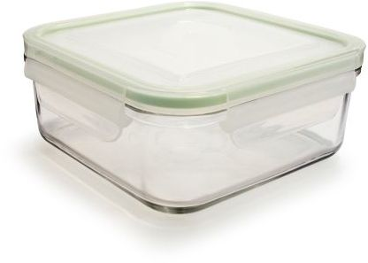 Sur La Table Kinetic Go Green Square GlassLock Food Storage, 30 oz.