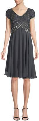 J Kara Embellished Cocktail Dress
