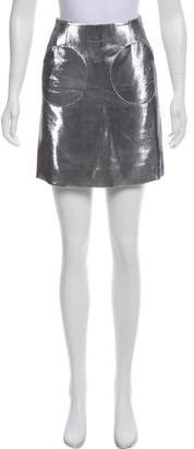 Isa Arfen Metallic Mini Skirt