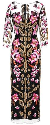 Temperley London Pardus embroidered tulle dress