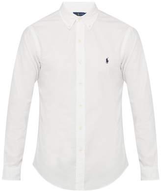Polo Ralph Lauren Logo Embroidered Button Down Cotton Shirt - Mens - White