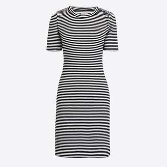 J.Crew Factory Striped short-sleeve structured knit dress