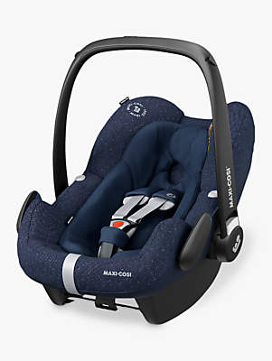 Maxi-Cosi Pebble Plus i-Size Group 0+ Baby Car Seat, Sparkling Blue