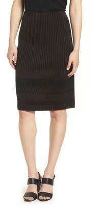 Ming Wang Stripe Knit Skirt