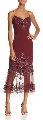 Aidan Mattox Embellished Illusion Dress