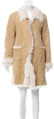 Ermanno Scervino Knee-Length Shearling Coat