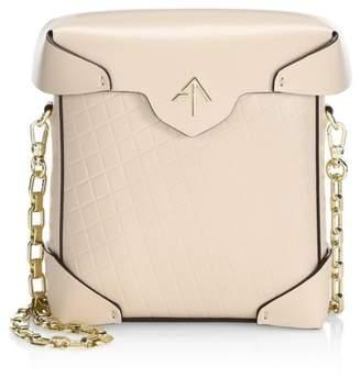 Atelier Manu Mini Pristine Leather Chain Strap Crossbody Bag
