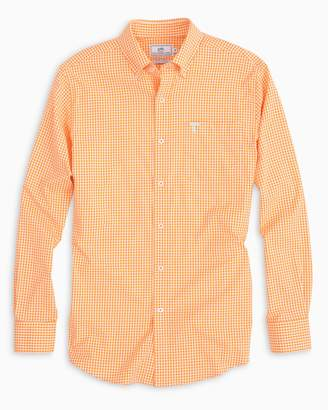 Southern Tide Gameday Gingham Intercoastal Performance Shirt - University of Tennessee